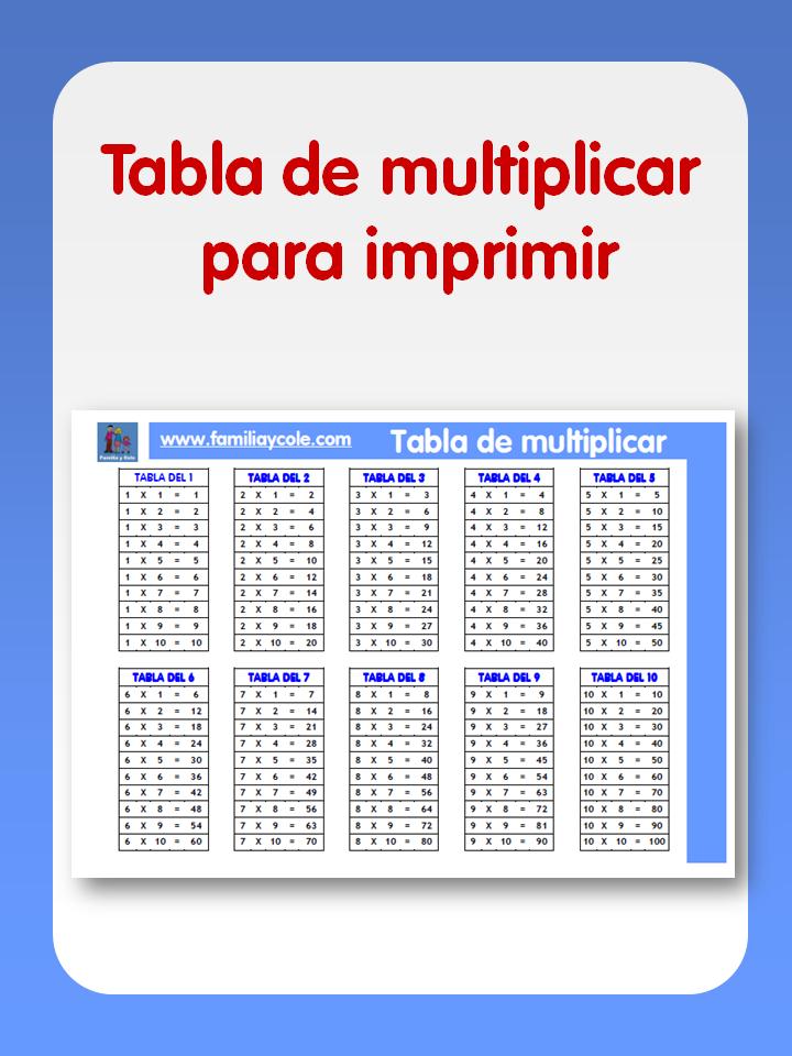 Pin Tablas De Multiplicar Del 1 Al 10 Las Multiplicarpng on Pinterest