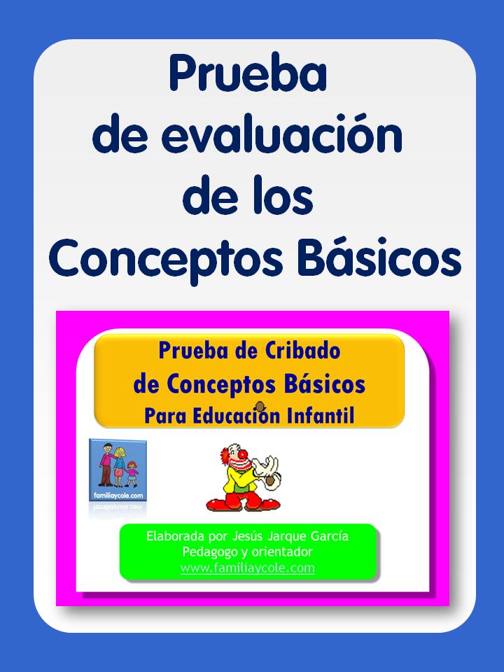 Prueba para evaluar los conceptos b sicos familia y cole for Nociones basicas de oficina concepto